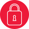 keyless access control for utilities lock icon